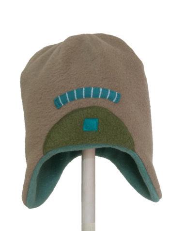 Oyster fleece inca hat
