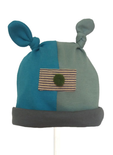 oyster cotton knot hat